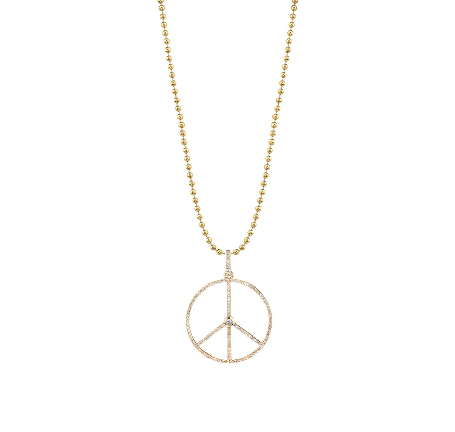 14k Gold Peace Necklace