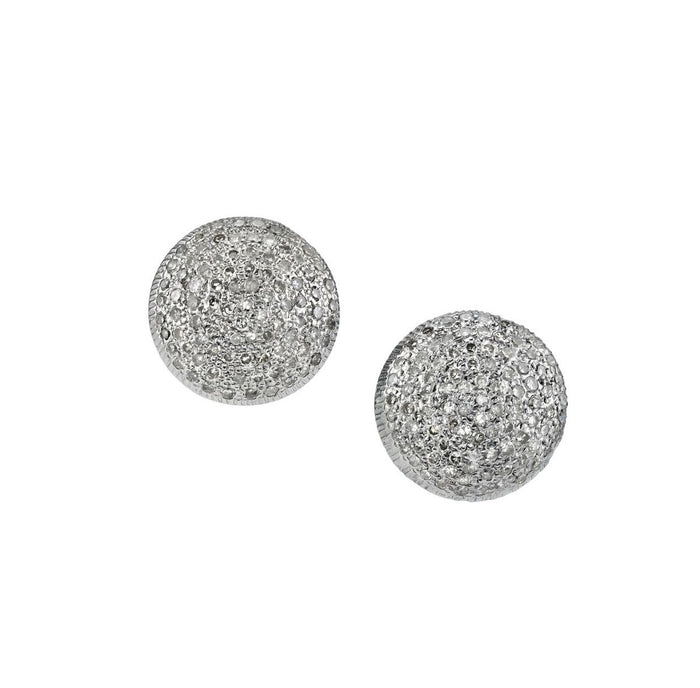 Pavé Diamond Stud Earring