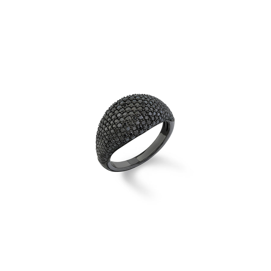 Black Diamond Modern Signet Ring