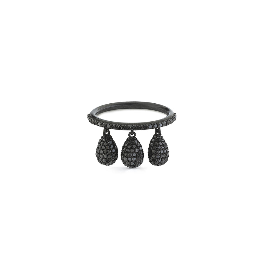 Black Diamond Shaker Ring