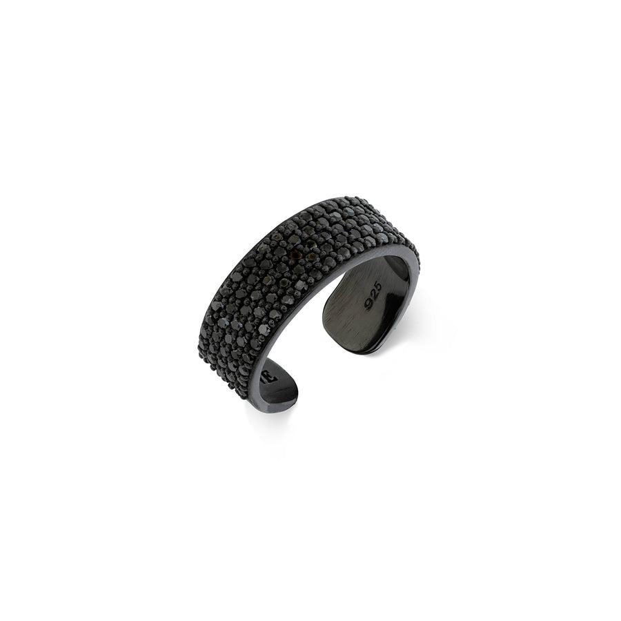 Mini Black Diamond Cuff Ring