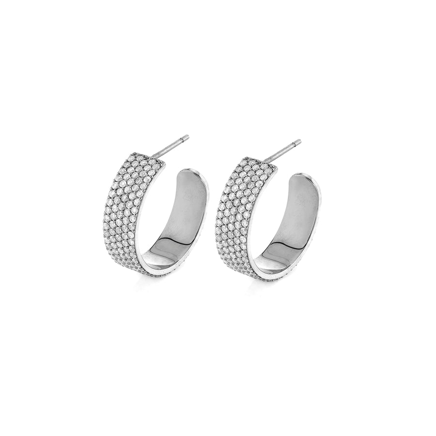 Chunky Diamond Hoops