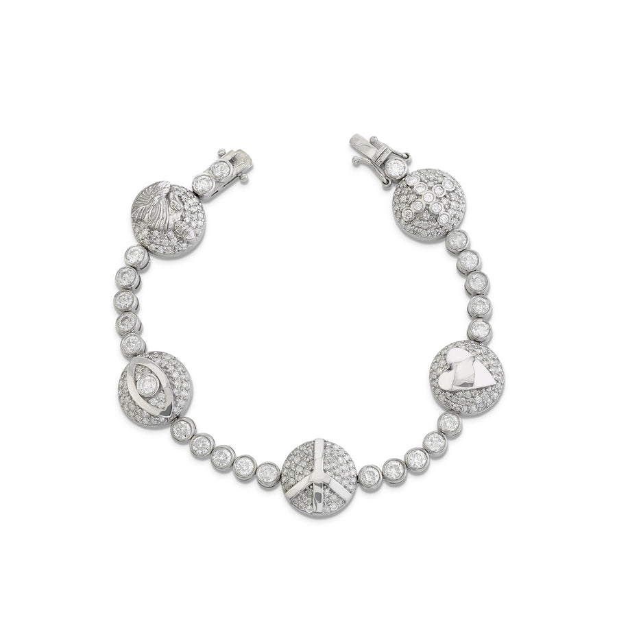 Icon Diamond Bezel Tennis Bracelet