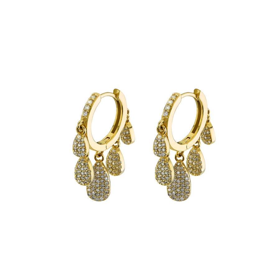 14k Five Drop Shaker Diamond Earrings