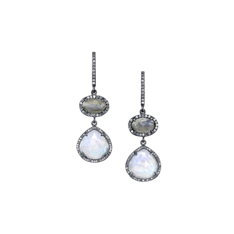 Labradorite and Moonstone Earrings