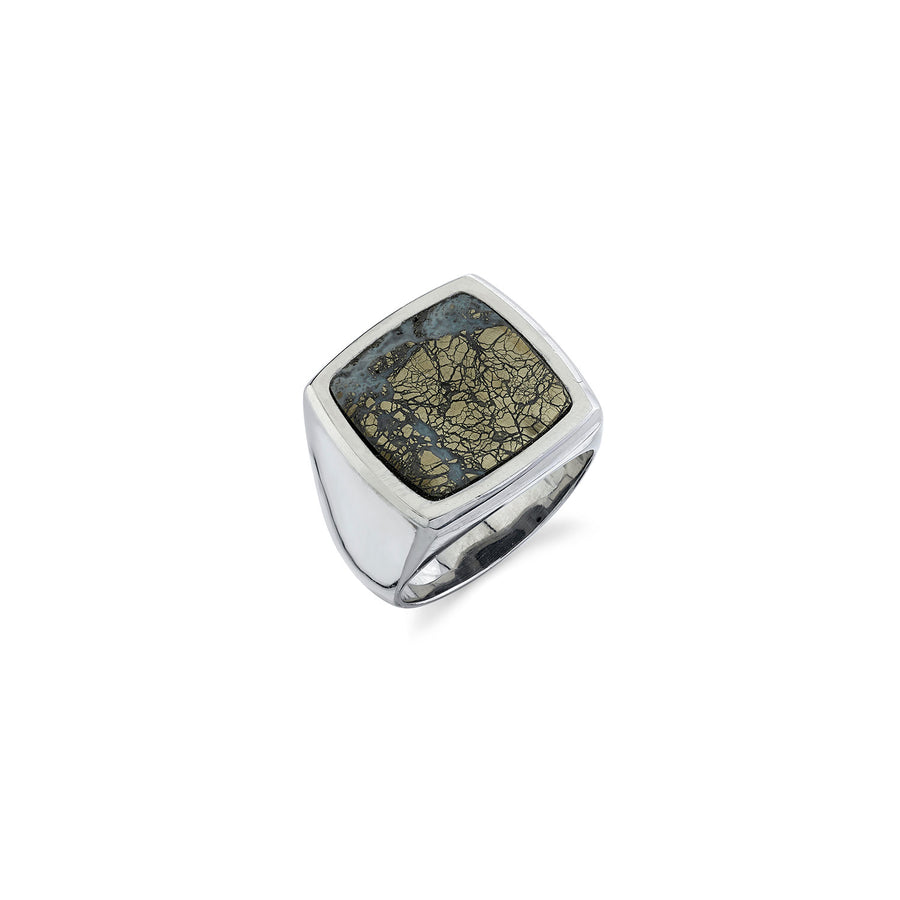 Mr. LOWE Pyritized Agate Signet Ring