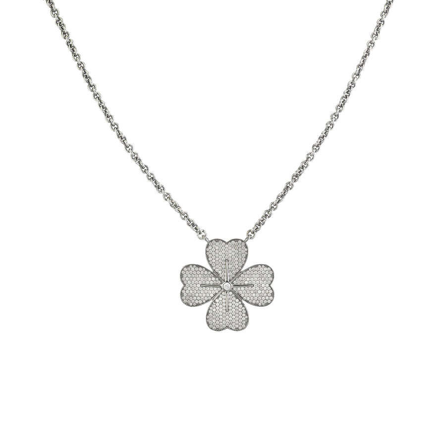 Cable Chain Large Clover Necklace