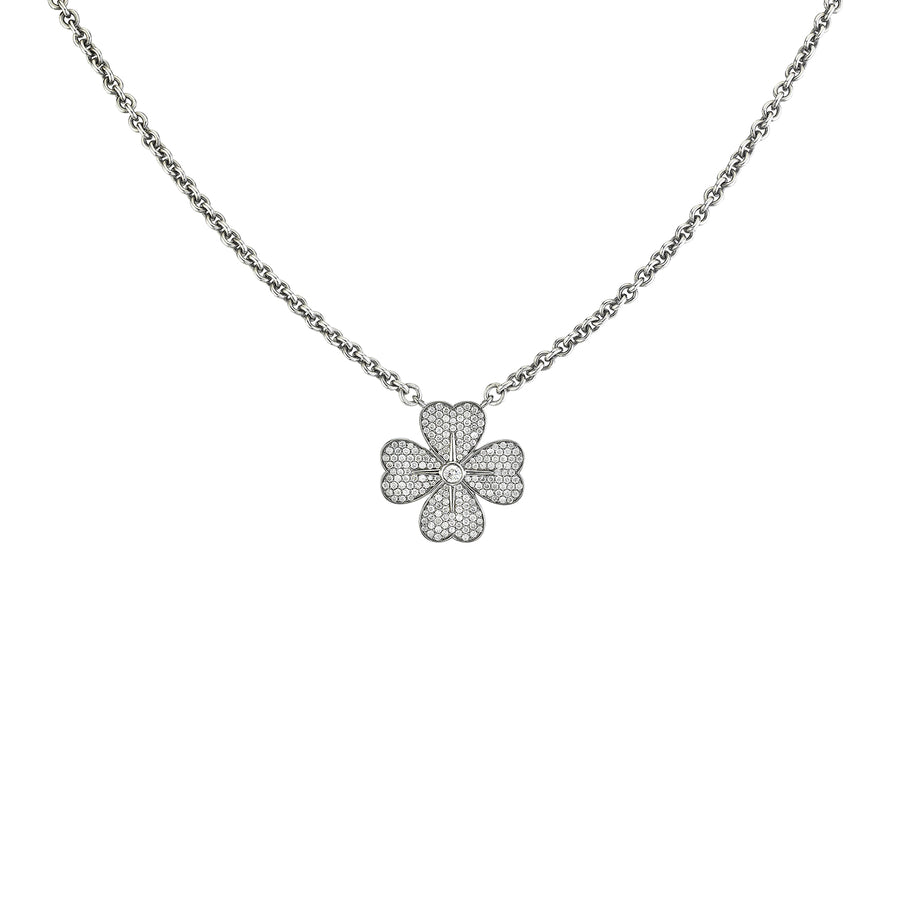 Cable Chain Clover Necklace