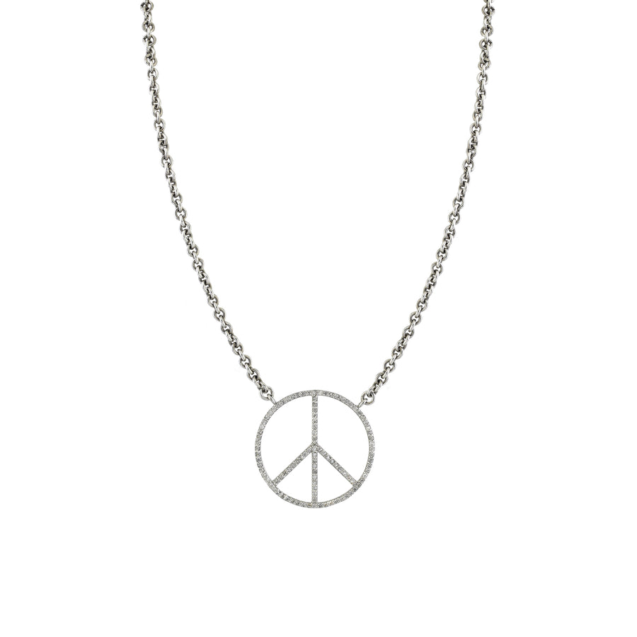 Cable Chain Peace Necklace