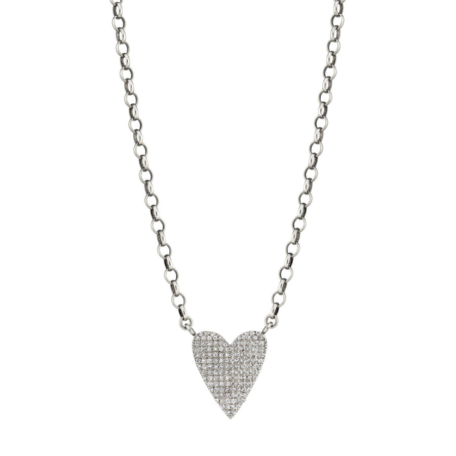 Folded Heart Box Chain Necklace