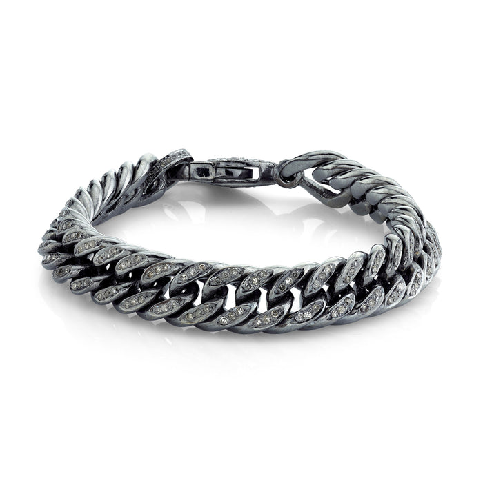 FLAT ROPE CURB CHAIN BRACELET