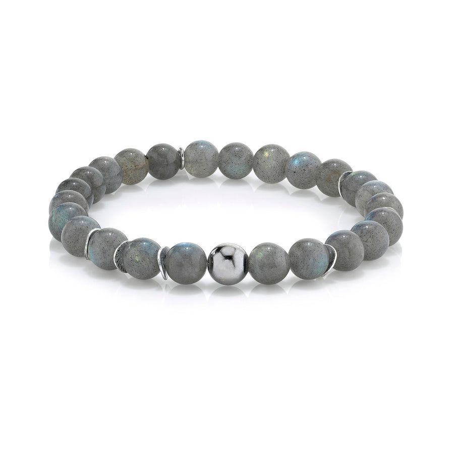 Mr. LOWE Labradorite Bracelet with Silver Bead and Discs