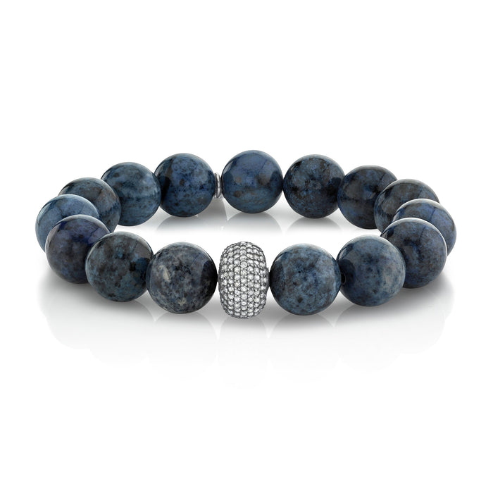 DUMORTIERITE AND PAVÉ DIAMOND BRACELET, 12MM