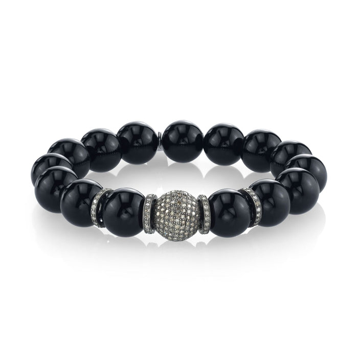 BLACK ONYX AND PAVÉ DIAMOND BRACELET