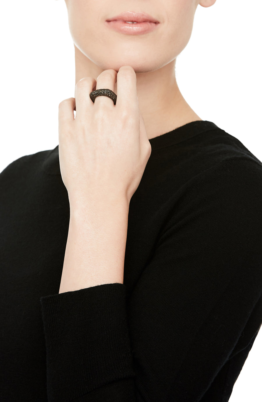 Black Diamond Square Stack Ring