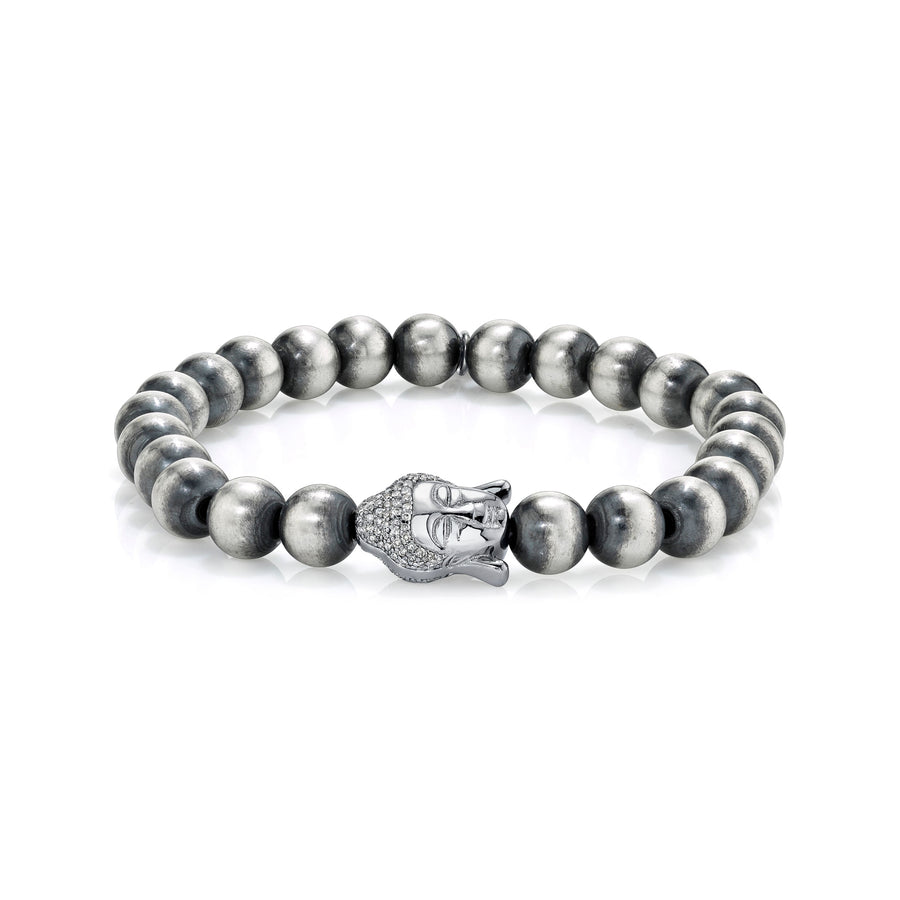 Silver Bracelet with Buddha Bead