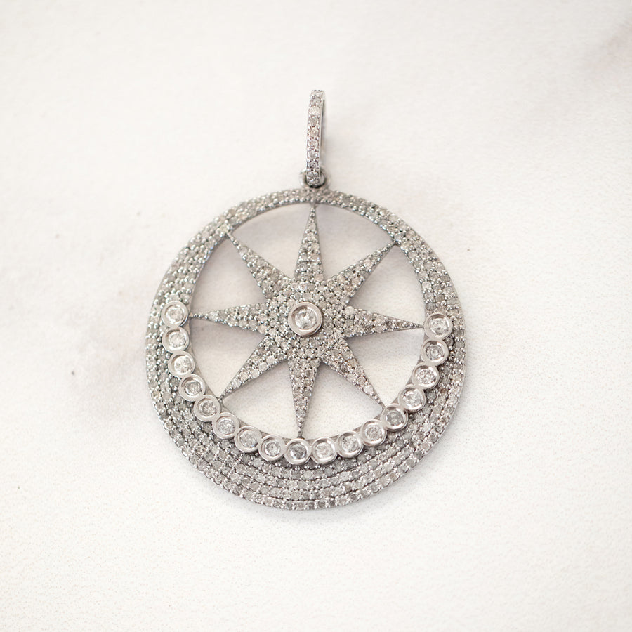 Star in the Moon Pendant
