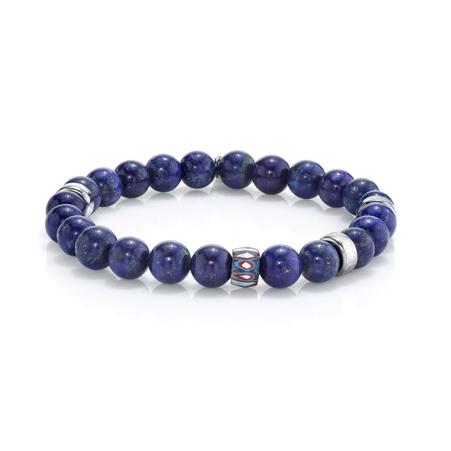 Mr. LOWE Lapis Bracelet with African Bead