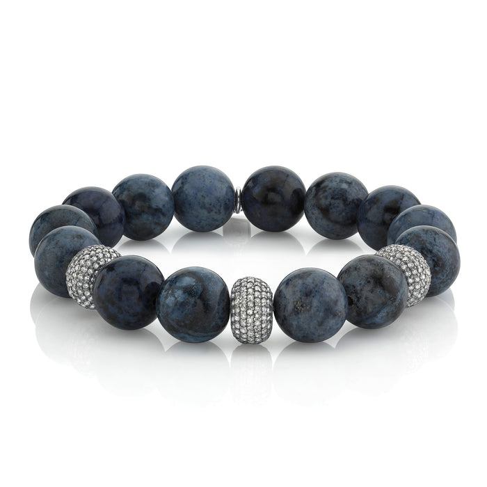 DUMORTIERITE AND PAVÉ DIAMOND BRACELET