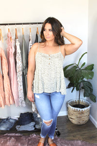 Leaf Print 3 Tiered Cami