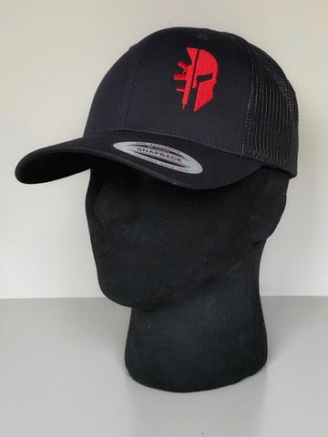 BLACK TRUCKER 'SPARTAN RED'