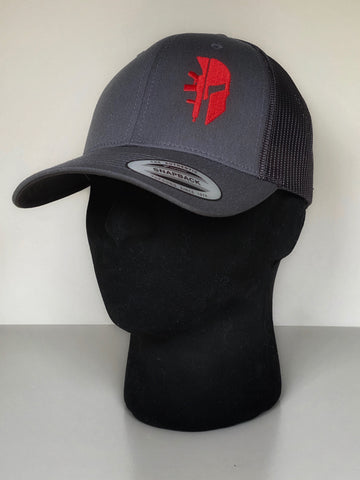 GREY TRUCKER 'SPARTAN RED'