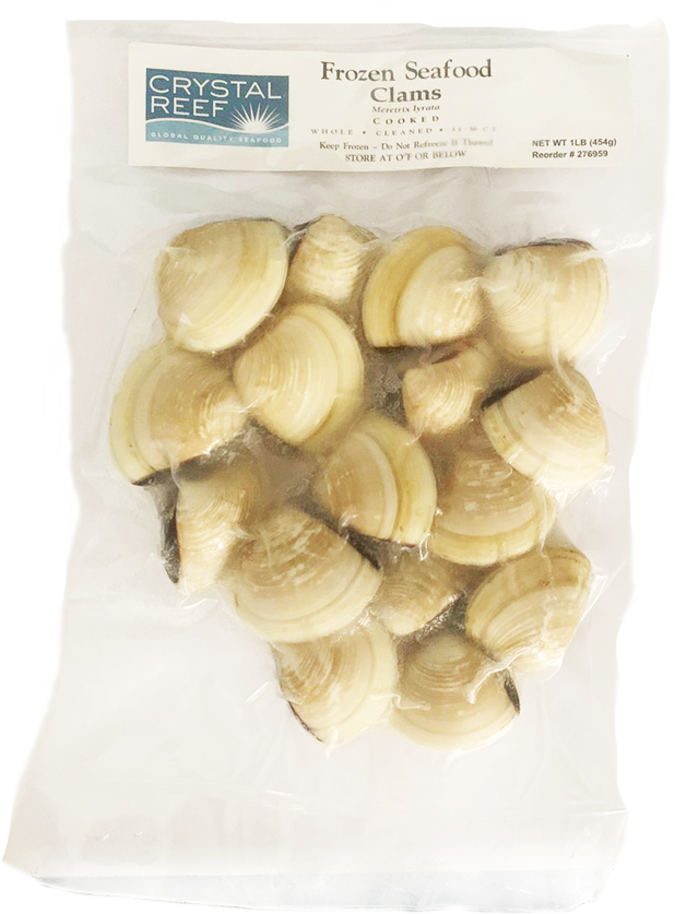 Crystal Reef Frozen Clams 1lb