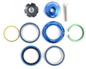 Cane Creek 110 Series integrated headset blue IS41/28.6 IS41/30 upper and lower