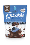 Dark chocolate covered real dried blueberries 100g.