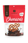 Dark chocolate covered gluten free pretzels 120g.