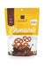 Milk chocolate covered gluten free pretzels 120g.