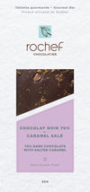 Salted caramel Dark chocolate gourmet bar 50g.