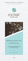Sea salt Dark chocolate gourmet bar 50g.