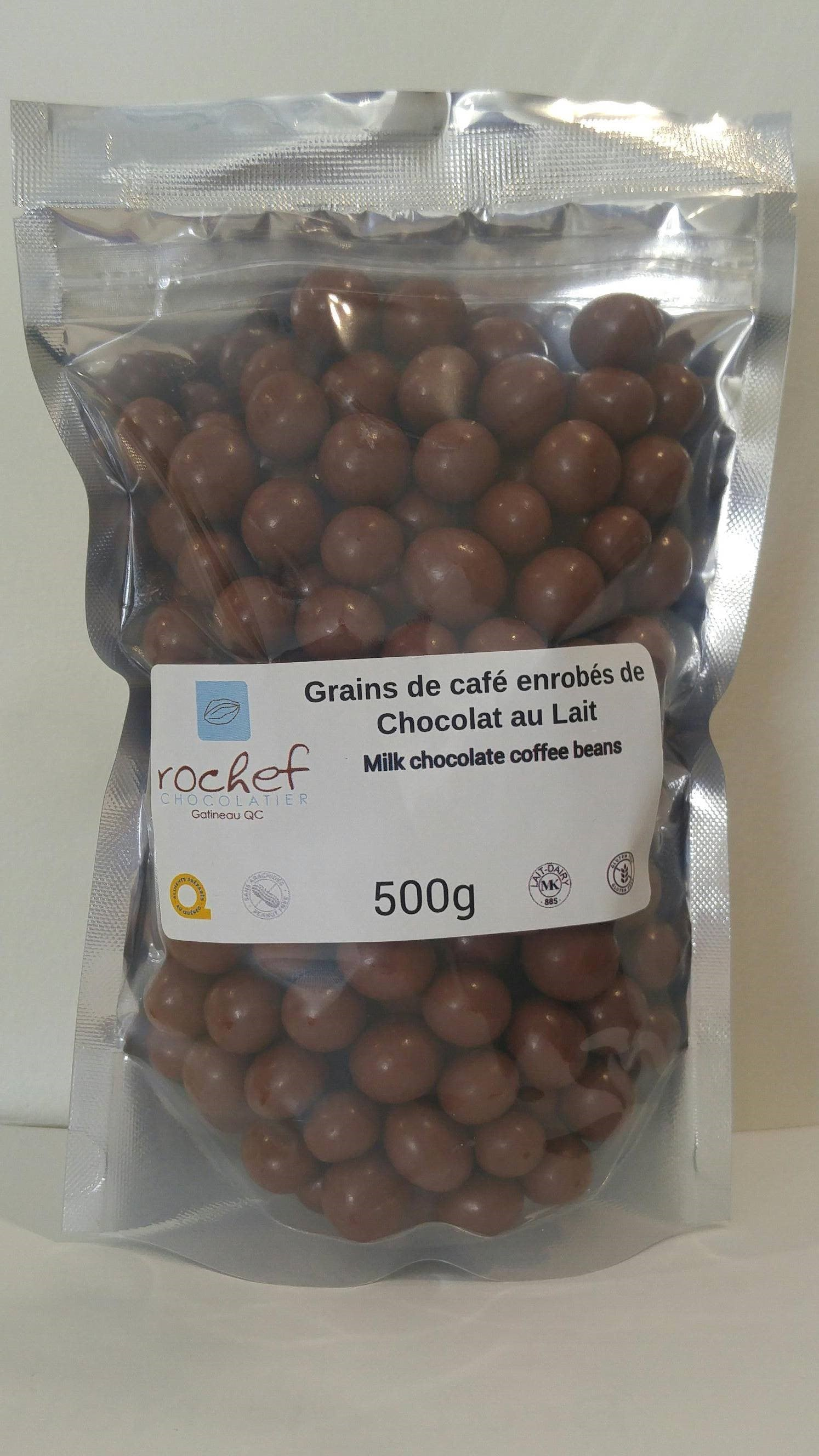Bulk! Milk chocolate covered coffee beans 500g.