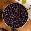 Bulk! Milk chocolate covered real dried blueberries 500g.