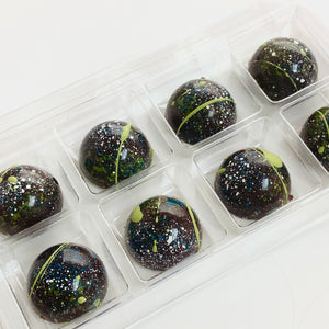 Dark Chocolate Pistachio Salted Caramel Buttons - 8.pcs