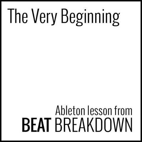 The Very Beginning (Beginner) - Start From Scratch #1