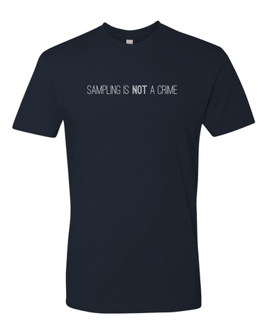 'sampling is not a crime' T-Shirt - Dark