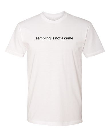 'sampling is not a crime' T-Shirt - White