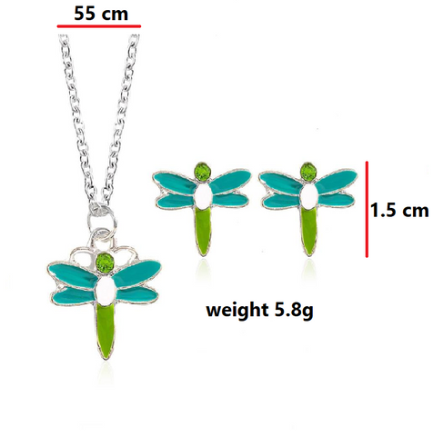 Kids Earrings and Necklace Set