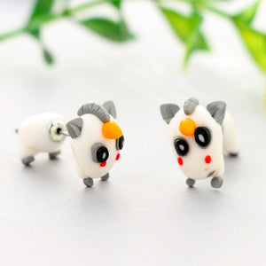 Cartoon Unicorn Soft Ceramics Stereoscopic Handmade Earrings