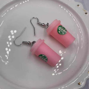 Starbucks Coffee Milk Tea Cup Earrings