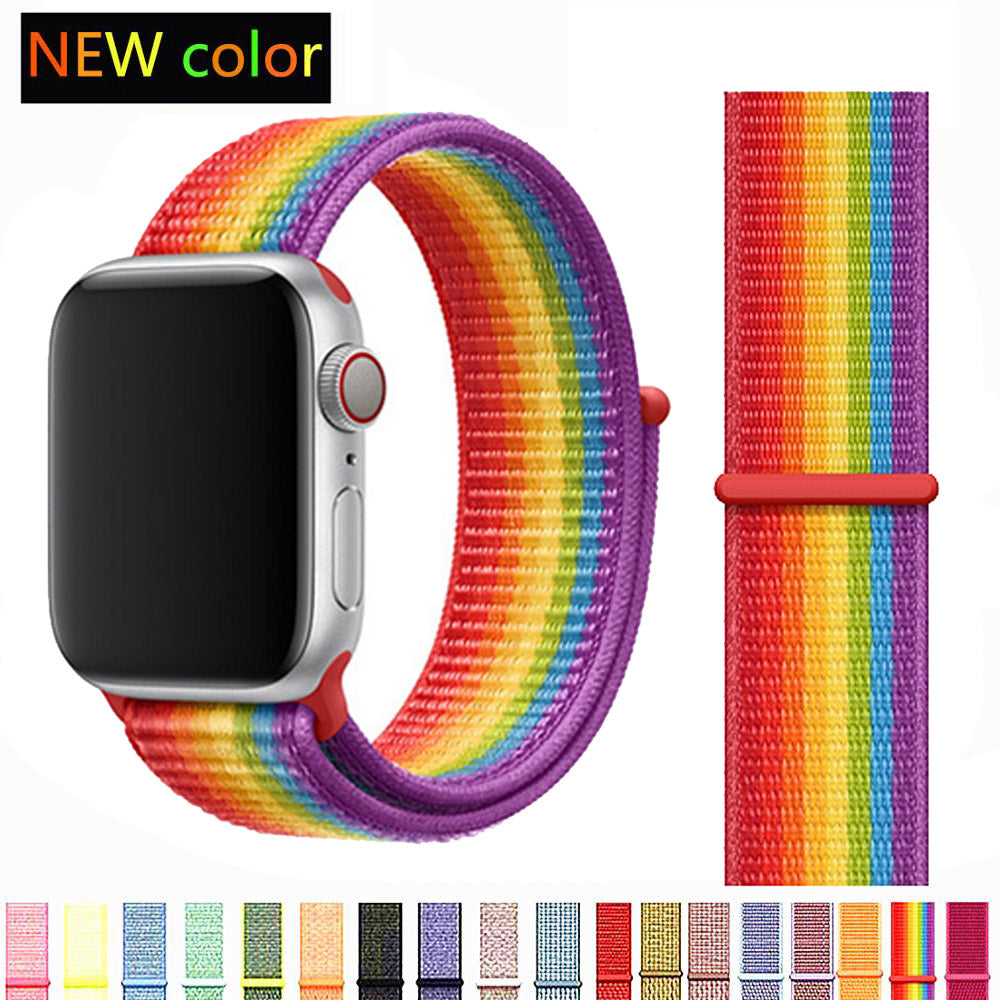 Nylon Soft Sport Loop Apple iWatch Wristbands 38mm-44mm