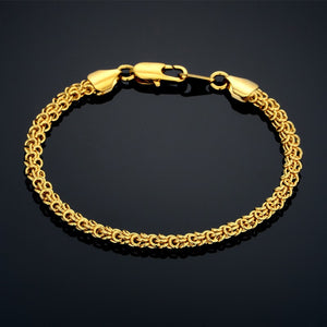 Vintage Thick Chain Link Gold & Silver Bracelet