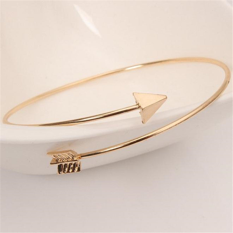Punk Open Adjustable Arrow Cuff Bracelets