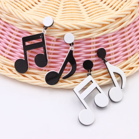 Musical Note Earrings Alloy
