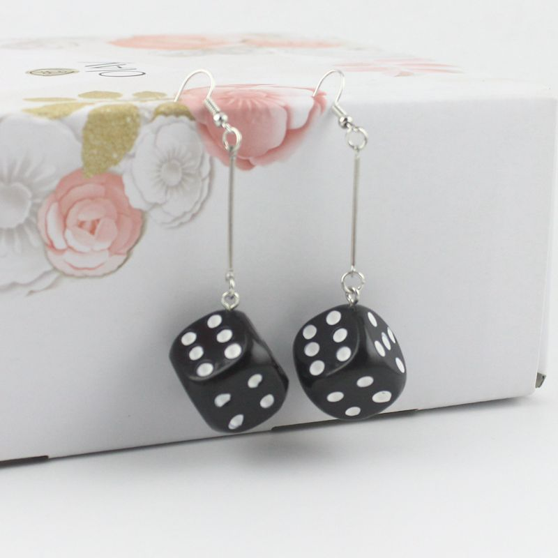 Dice Earrings Instant Celebrity Personal Student Funny Acrylic Earrings