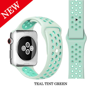 Apple iWatch Silicone Strap Rubber Wristband 38mm, 40mm, 42mm, 44mm
