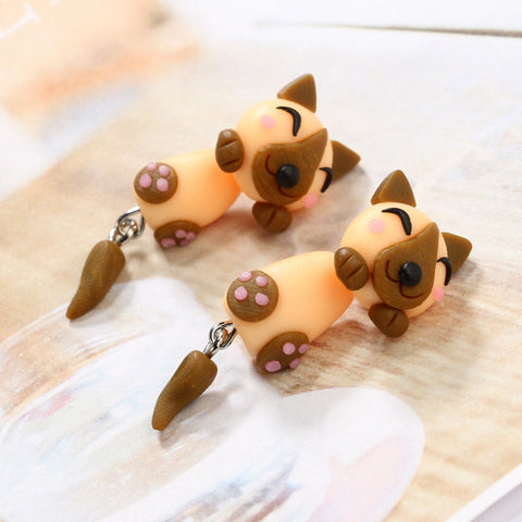 Cartoon Handmade Ceramic Earring