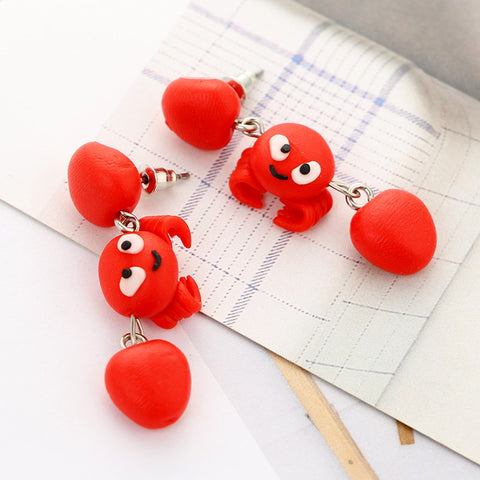 Cartoon Handmade Ceramic Earrings